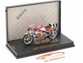 Loris Capirossi Honda RS125 #1 Monde champion 125cc 1991 1:24 Ixo