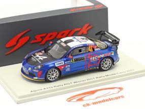 Alpine A110 Rally RGT #43 winnaar RGT Rallye Monte Carlo 2021 1:43 Spark