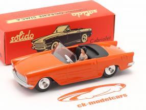 Simca Oceane Convertibile Anno di costruzione 1958 arancia 1:43 Solido