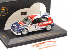 Toyota Corolla WRC #2 winner championship Belgium 2001 Tsjoen, Chevaillier 1:43 Ixo
