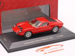 Lamborghini Miura P400 SV year 1972 red 1:43 Ixo