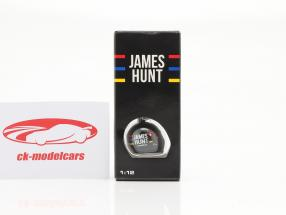 James Hunt McLaren M23 Fórmula 1 Campeão mundial 1976 Chaveiro capacete 1:12 MBA
