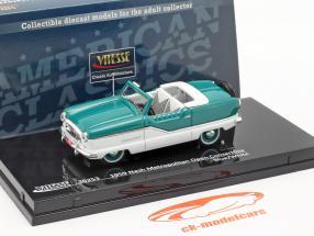 Nash Metropolitan Open Convertible Year 1959 blue / white 1:43 Vitesse