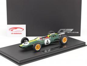 Jim Clark Lotus 25 #4 Formel 1 Weltmeister 1963 mit Vitrine 1:18 GP Replicas