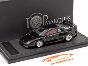 Ferrari F40 Baujahr 1987 schwarz 1:43 TopMarques