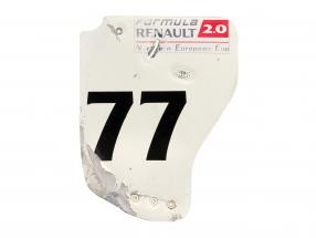 original Bagfløj Endeplade #77 formel Renault 2.0 / ca. 36 x 47 cm