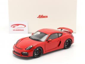 Porsche Cayman GT4 (981c) Année de construction 2015 Gardes rouges 1:18 Schuco