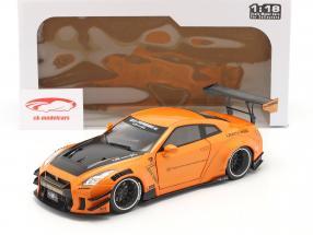 LB Works Nissan GT-R (R35) Tipo 2 naranja metálico 1:18 Solido