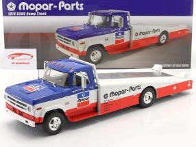 Dodge D300 Ramp Truck Mopar 1970 bleu / blanc / rouge 1:18 GMP