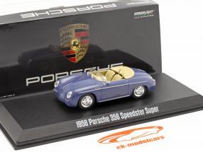 Porsche 356 Speedster Super Anno di costruzione 1958 aquamarine blu 1:43 Greenlight