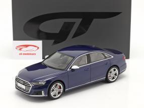 Audi S8 (D5) 建設年 2020 navarra 青 1:18 GT-Spirit