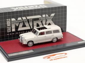 Mercedes-Benz Binz 180d (W120) Break Année de construction 1960 gris clair 1:43 Matrix