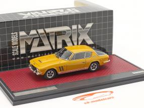 Jensen Interceptor FF Series II year 1970 mango yellow 1:43 Matrix