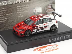 Volkswagen VW Golf VII GTI TCR Baujahr 2019 rot / weiß 1:43 VW Motorsport