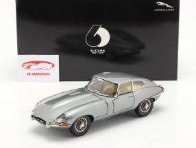 Jaguar E-Type Coupe RHD Bouwjaar 1961 donkergrijs metalen 1:18 Kyosho