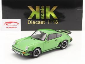 Porsche 911 (930) Turbo 3.0 year 1976 green metallic 1:18 KK-Scale