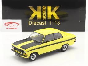 Opel Kadett B Sport Bouwjaar 1973 geel / zwart 1:18 KK-Scale