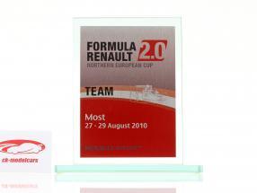 Tazza di vetro formula Renault 2.0 NEC squadra Premio Renault Sport Most 2010