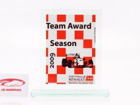 Coupe en verre formule Renault 2.0 NEC équipe Prix Renault Sport 2009