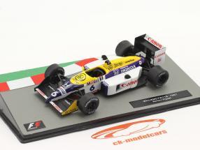 Nelson Piquet Williams FW11B #6 formule 1 Wereldkampioen 1987 1:43 Altaya