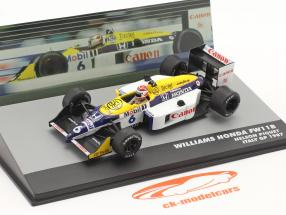 Nelson Piquet Williams FW11B #6 gagnant italien GP F1 Champion du monde 1987 1:43 Altaya