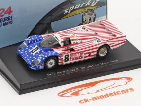 Porsche 956 #8 3ª 24h LeMans 1986 Follmer, Morton, Miller 1:64 Spark