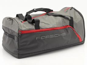 Porsche Reisetasche ca. 65 x 35 x 30 cm grau / schwarz / rot