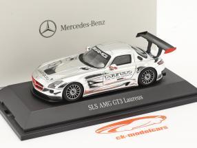 Mercedes-Benz SLS AMG GT3 Laureus krom 1:43 Spark