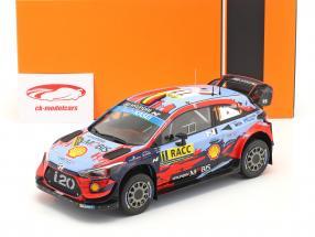Hyundai i20 Coupe WRC #11 Winnaar Rallye Catalonië 2019 Neuville, Gilsoul 1:18 Ixo