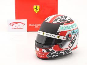 Charles Leclerc #16 Scuderia Ferrari formule 1 2021 casque 1:2 Bell