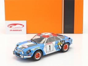 Alpine Renault A110 1800 #1 Winnaar Rallye Tour de Corse 1973 1:18 Ixo