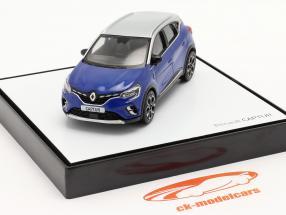 Renault Captur Année de construction 2020 bleu / Gris argent 1:43 Norev