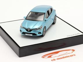 Renault Clio generation 5 Byggeår 2019 Lyseblå metallisk 1:43 Norev
