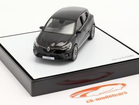 Renault Clio generatie 5 bouwjaar 2019 zwart 1:43 Norev