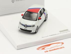 Renault Twingo geração 3 de Le Coq Sportif 2019 Branco / vermelho / azul 1:43 Norev