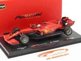 Sebastian Vettel Ferrari SF1000 #5 オーストリア航空 GP 式 1 2020 1:43 Bburago