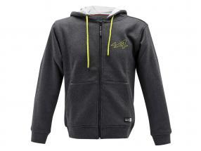 Alpine Fleece-Jacke grau / gelb
