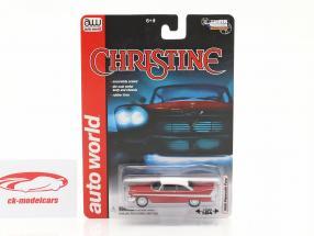 Plymouth Fury Filme Christine 1983 vermelho / Branco 1:64 AutoWorld