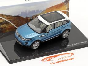 Land Rover Range Rover Evoque 5-deurs mauritius blauw 1:43 Ixo