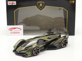 Lamborghini V12 Vision GT olijf- groen / zwart 1:18 Maisto