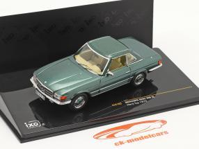 Mercedes-Benz 350 SL Hardtop Année de construction 1972 vert métallique 1:43 Ixo