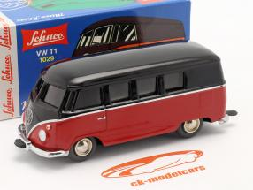 Micro Racer Volkswagen VW T1 Van de caixa Preto / vermelho 1:40 Schuco