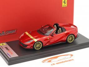 Ferrari 812 GTS Spider Byggeår 2019 ildrød / guld 1:43 LookSmart