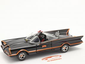 Batmobile Klassisk TV Serie Batman (1966) sort 1:24 Jada Toys