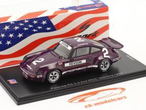 Porsche RS 3.0 #2 2. plads IROC Daytona 1974 P. Revson 1:43 Spark