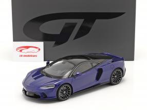 McLaren GT bouwjaar 2019 donkerblauw 1:18 GT-SPIRIT
