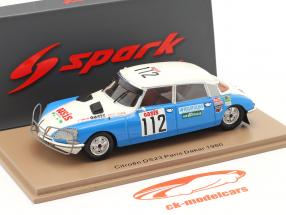 Citroen DS23 #112 Rally Dakar Paris 1980 Delles, Lamy, Biron 1:43 Spark
