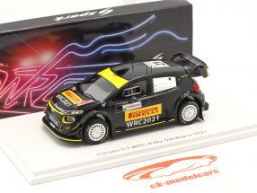 Citroen C3 WRC #21 Rallye Sardegna 2020 Pirelli Pneumatici test 1:43 Spark