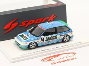Hond Civic EF9 #14 2. plads Div 3 JTC Rd4 Sendai Hi-Land 1991 1:43 Spark