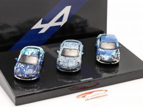 3 coches colocar Alpine Coffret A 110 Prototype Año de construcción 2017 camuflaje 1:43 Norev